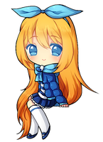 .: Commission example - Sitting Chibi Base  :. by nilmea