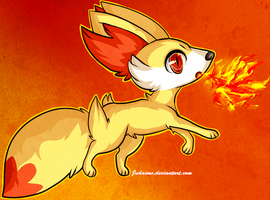 Fennekin by Judaime
