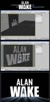 Making of Alan Wake Poster by Skyunlimited