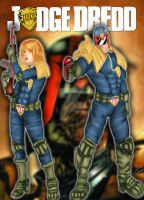 Fan Art Judge Dredd and Judge Anderson finished by Jen-Chan93