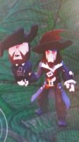 Barbossa Townspeople by Mileymouse101