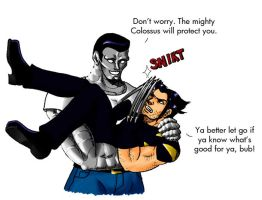 Colossus and Wolverine by SailorAnime