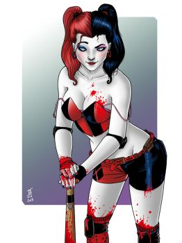 Three Strikes, You're Out!  [Harley Quinn] by comicfreak41691