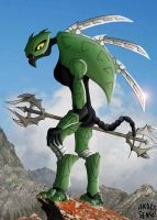 Green Rahkshi (Bionicle) by AkageSensei