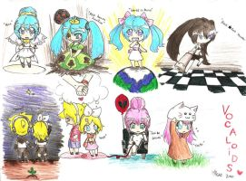 Vocaloids by MESS-Anime-Artist