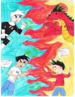 Danny Phantom vs Jake Long by CrazyGamerDragon64