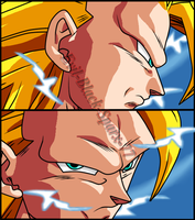 Son Goku Ssj3  by Evil-Black-Sparx-77