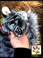 TBL handmade poseable WolfLeamur face by TouchedbyLavender