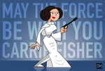 Carrie Fisher :( by DanielMead