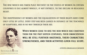 Hypatia Bradlaugh Bonner on religion.. by rationalhub