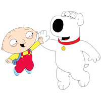 Stewie And Brian Hi Five by Mighty355