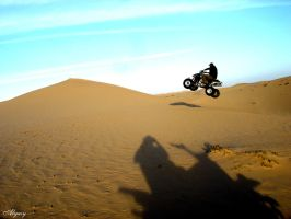 ATV jump over the dune by alyasy
