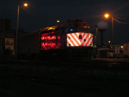 Locomotive at night by hopper195
