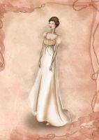 Regency Costume Inspired Fashion Illustration by BasakTinli