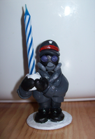 Zee Captain Birthday Candle Holder by BlueSmudge