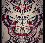 Bull tattoo design closeup by foxxmax
