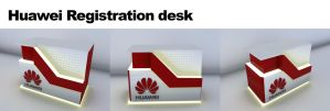 Huawei Event registration desk by Mohamad-saleh