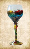 Hand Painted Chalice by Just-A-Little-Knotty