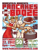 New Pancakes and Booze poster by pseudo-manitou