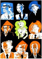 DICK TRACY CARDs by drawhard