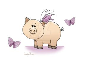 Little wings piggy I by VioletDolphin