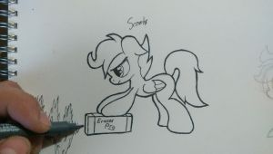 Not scribbling me out! by Chrispy248