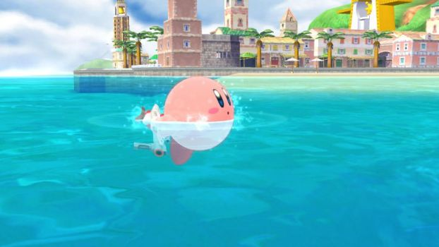 Kirby on the water by user15432