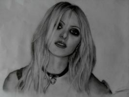 Taylor Momsen pencil drawing by Hay182