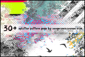 30+ Splatter Pattern PNGS by vengeanceavenue