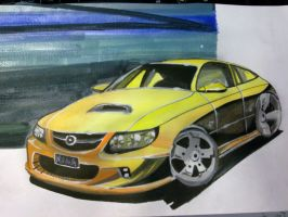 water color car by luwe2009