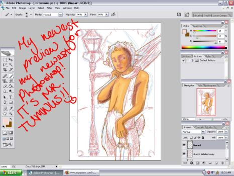 Mr. Tumnus Photoshop Preview by hroku