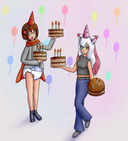 Commish: Birthday Birthday~ by Hira-Dontell