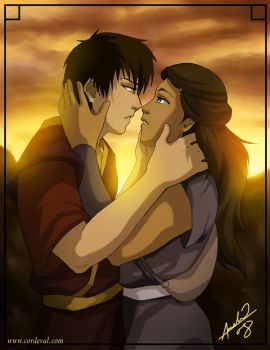 Zutara Sunset by Amelie-ami-chan