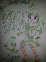 Angry Girls/Angry Birds: Mint Bird Girl by MeganLovesAngryBirds