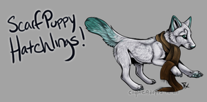 Scarf Puppy Hatchlings! [Egg #6] by CoyoteAdopts