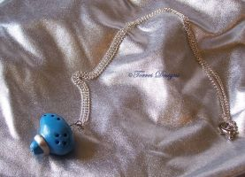 Ocarina of Time Necklace Zelda Handmade Custom by TorresDesigns