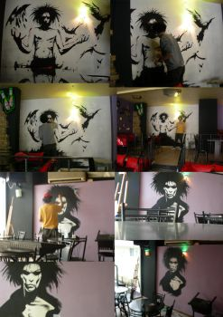 sandman on the wall by tinec