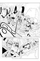 TF Animated Botcon page 1 inks by MarceloMatere