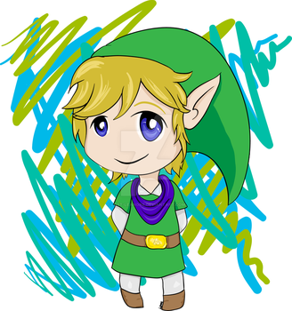 Chibi Link + SpeedArt Video by Lost-Leanore