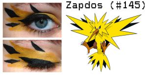 Pokemakeup 145 Zapdos by nazzara