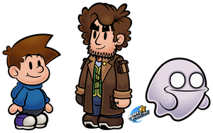 Paper Mario style! - (Scott, Looter, Ghooost) by MarkProductions