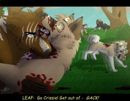 Leaf's death by Mana-ghostwolf