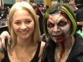 Laura Tyler and her demonic zombie by Isamakisa45