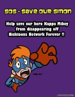 SOS Save Kappa Mikey postcard by kappalizzy