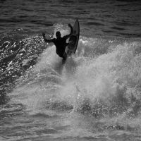 Surfing In Anglet by Abylone