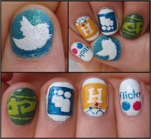 social network nails by Ninails