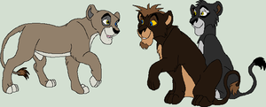 Barla's and Yaku's cubs by wolvesanddogs23