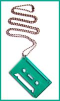 Green Acrylic Tape Necklace by cherryboop