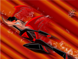 Supersonic speed red -Rev- by Silverfox0986