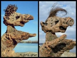 Driftwood art in Hungary(MOUSE,ALF)by tamas kanya by tom-tom1969